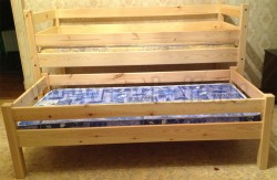 Двухъярусная выдвижная кровать Классика (70х160см).