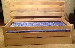 Выдвижная кровать Классика 70х160 (с ящиком и матрасами).