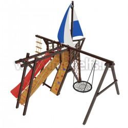 Детская игровая деревянная площадка Фрегат