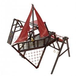Детская игровая деревянная площадка Каравелла