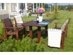 Комплект дачной мебели Ярви из массива.
