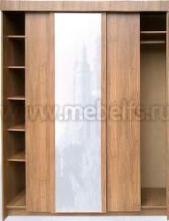 Шкаф купе для прихожей с зеркалом (1650мм).