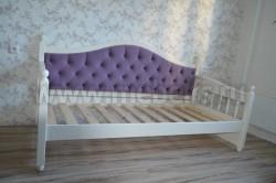 Кровать тахта мягкая F3 (Фрея) 80х200 без ящиков из сосны.