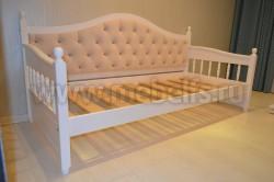 Кровать тахта мягкая F3 (Фрея) 80х190 без ящиков из сосны.