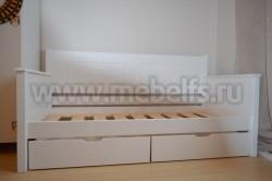 Кровать-тахта Т3 (Тора) 90х200 с 2я ящиками из сосны