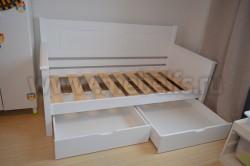 Кровать-тахта Т3 (Тора) 80х200 с 2я ящиками из сосны