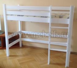 Кровать-чердак Классика 70x160см с игровой зоной из массива сосны
