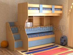 Двухъярусная кровать со столом Дуэт-4 (БС).