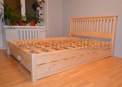 Двуспальная кровать R1 (Рина) 140х190 с ящиками из массива