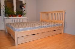 Двуспальная кровать R1 (Рина) 160х200 с ящиками из массива