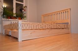 Двуспальная кровать R1 (Рина) 180х200 с ящиками из массива