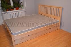 Двуспальная кровать R1 (Рина) 180х190 с ящиками из массива
