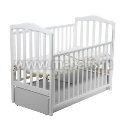 Кровать Винни 60х120 с маятником для новорожденного (белая)