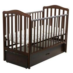 Кровать Винни 60х120 с маятником для новорожденного (орех шоколадный)