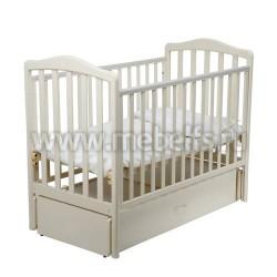 Кровать Винни 60х120 с маятником для новорожденного (слоновая кость)