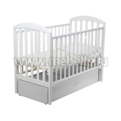 Кровать Джованни 60х120 с маятником для новорожденного (белая)