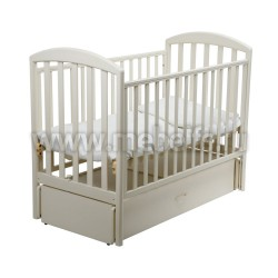 Кровать Джованни 60х120 с маятником для новорожденного (слоновая кость)