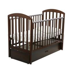 Кровать Джованни 60х120 с маятником для новорожденного (шоколадный орех)