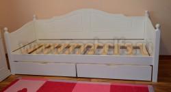 Кровать-тахта К3 (60х140) с двумя ящиками из массива
