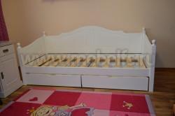 Кровать-тахта К3 (60х120) с двумя ящиками из массива