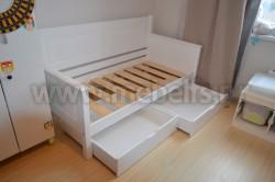 Кровать-тахта Т3 (Тора) 70х150 с 2я ящиками из сосны