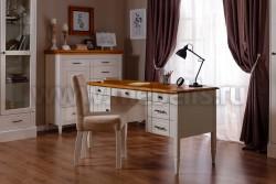 Стол письменный Дания №4 с ящиками из сосны