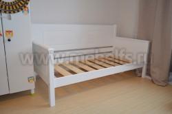 Односпальная кровать тахта Т3 90х200 из массива сосны.