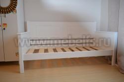 Односпальная кровать тахта Т3 60х120 из массива сосны.