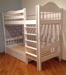 Кровать двухъярусная Фрея-3 (F3) 90х190 с ящиками из массива