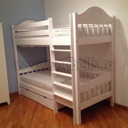 Кровать двухъярусная Фрея-3 (F3) 80х190 с ящиками из массива
