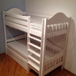 Кровать двухъярусная Фрея-3 (F3) 70х190 с ящиками из массива