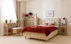 Двуспальная кровать мягкая Дания №5 140х190 из массива сосна