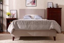Двуспальная кровать мягкая Дания №5 180х190 из массива сосна