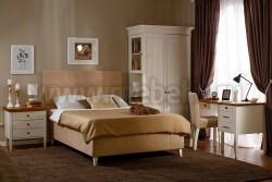 Односпальная кровать мягкая Дания №5 120х200 из массива сосна