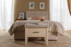 Двуспальная кровать мягкая Дания №6 140х190 из массива сосна
