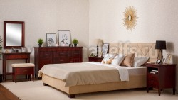 Двуспальная кровать мягкая Дания №7 180х200 из массива сосна