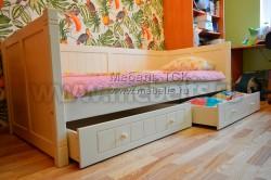 Кровать тахта Дания №3 90х200 с двумя ящиками из массива