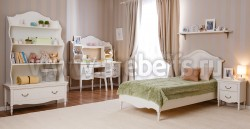 Односпальная кровать Айно-2 90х150 из массива сосны.