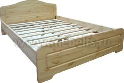 Односпальная кровать Услада (90х200см) из массива сосны.