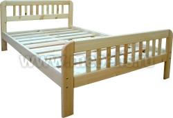 Двуспальная кровать Генуя 140х200 из сосны.