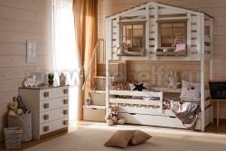 Кровать-домик 2-яр Кидс №1 (с комодом)
