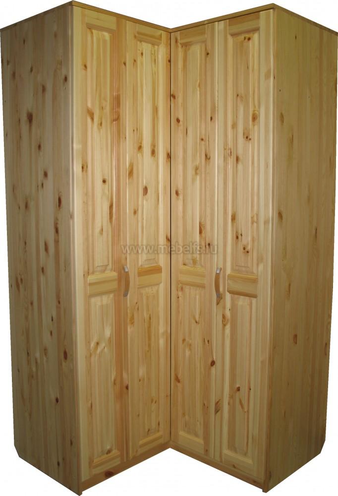 Угловой шкаф из дерева