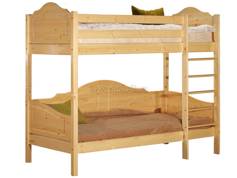 Детская двухъярусная кровать из сосны