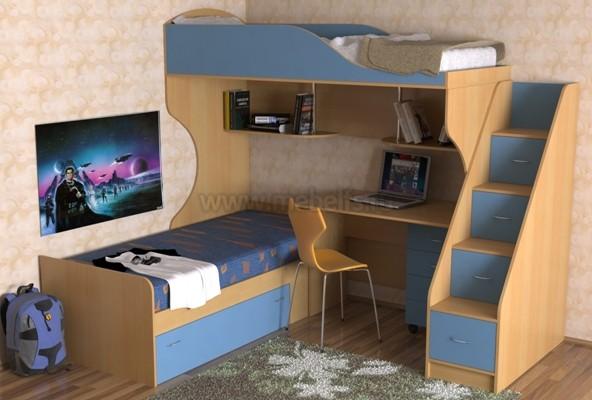 кровать с диваном Дуэт-5.2 (БС