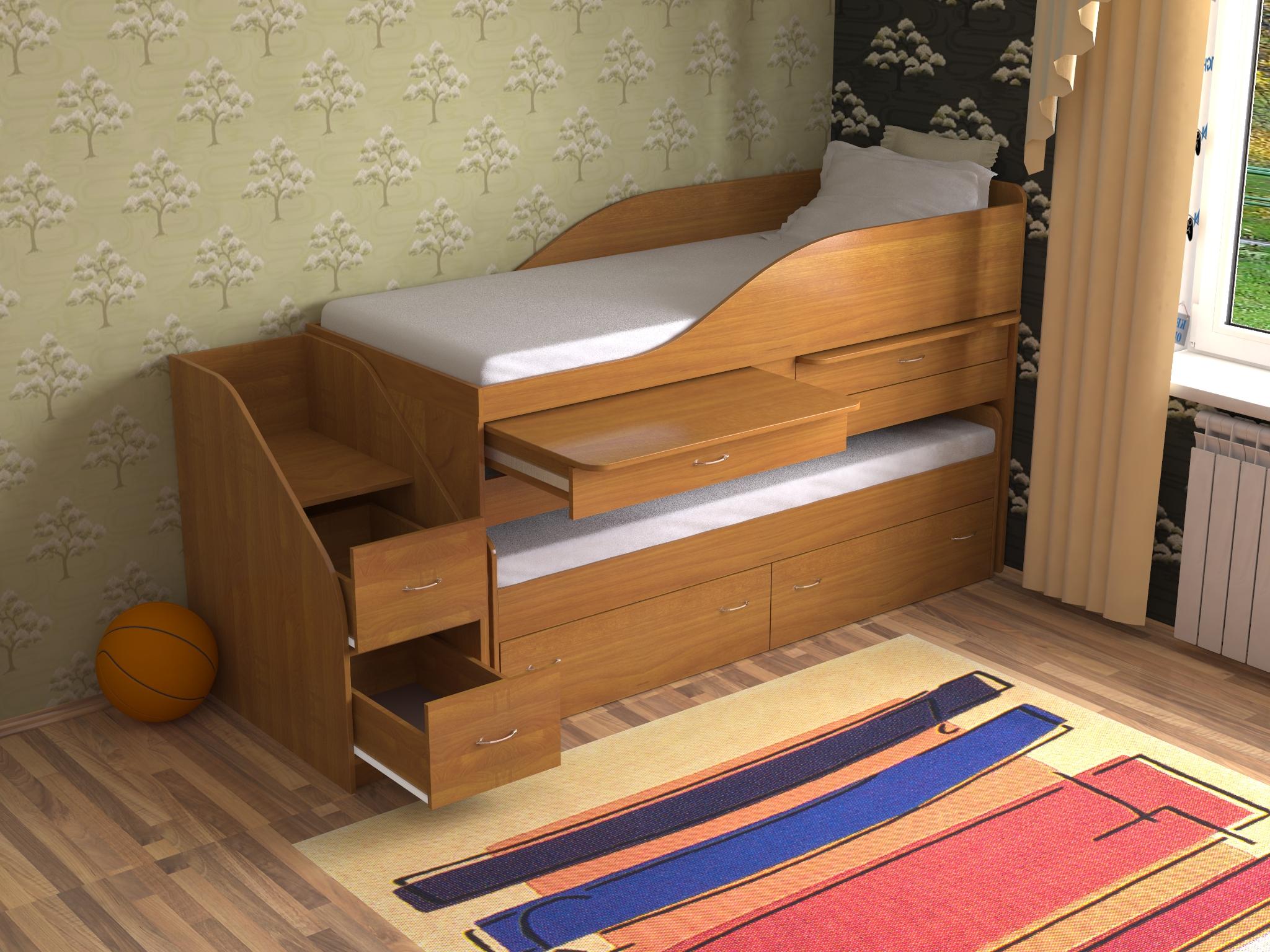 Кроватка для двоих детей своими руками