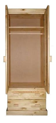 Шкаф для одежды из массива сосны